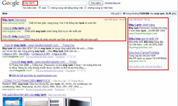 Chi phí cho Google Ads.