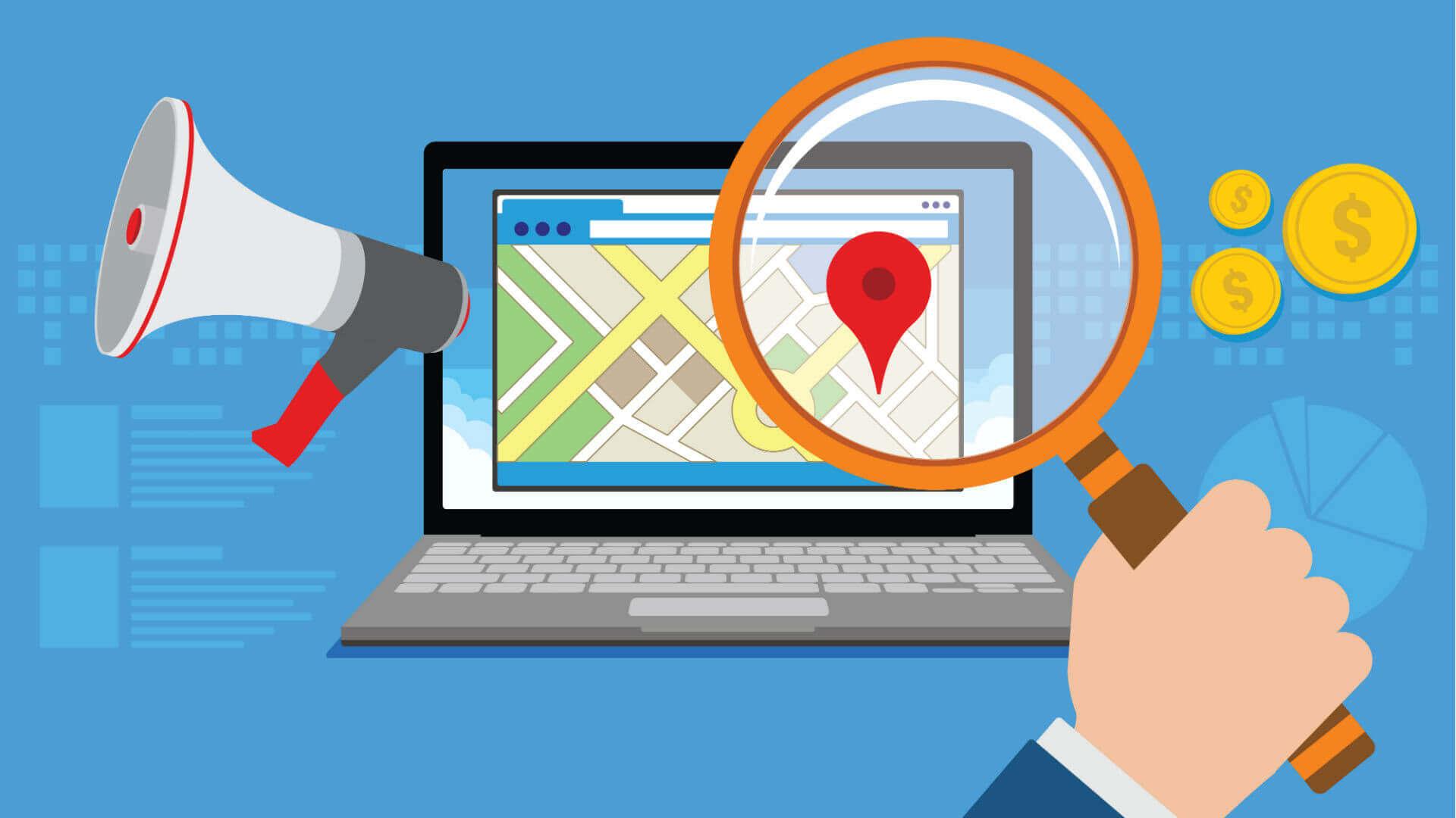 Local search giúp định vị chính xác địa điểm mà bạn tìm kiếm