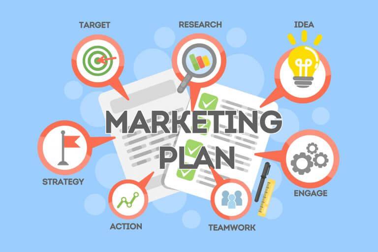 Kế hoạch marketing tổng quát gồm marketing truyền thống và marketing online